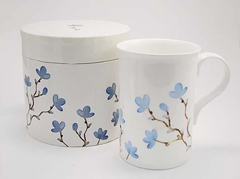 """Κούπα πορσελάνη """"blue magnolia"""" bone china"""