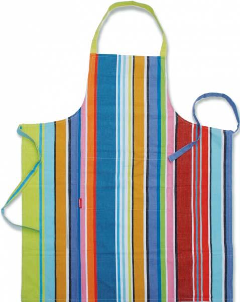 Ποδιά κουζίνας βαμβακερή με τσέπη Colour Stripes