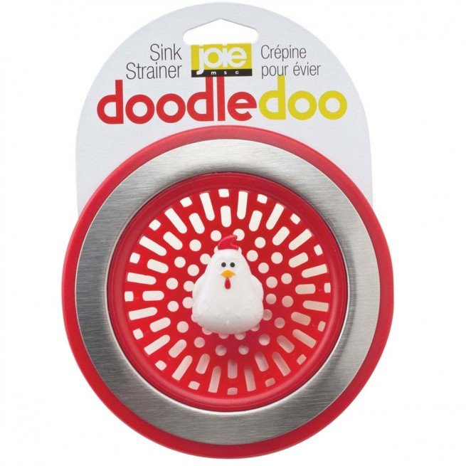 Σουρωτήρι νεροχύτη κόκκινο Rooster Doodle Doo