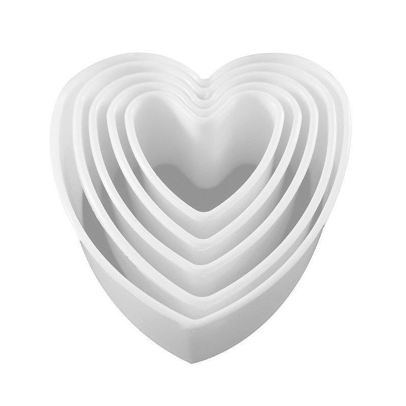 Σετ 5 κουπάτ καρδιά σε κουτί