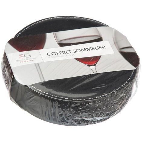 Sommelier σετ 4 αξεσουάρ κρασιού σε θήκη