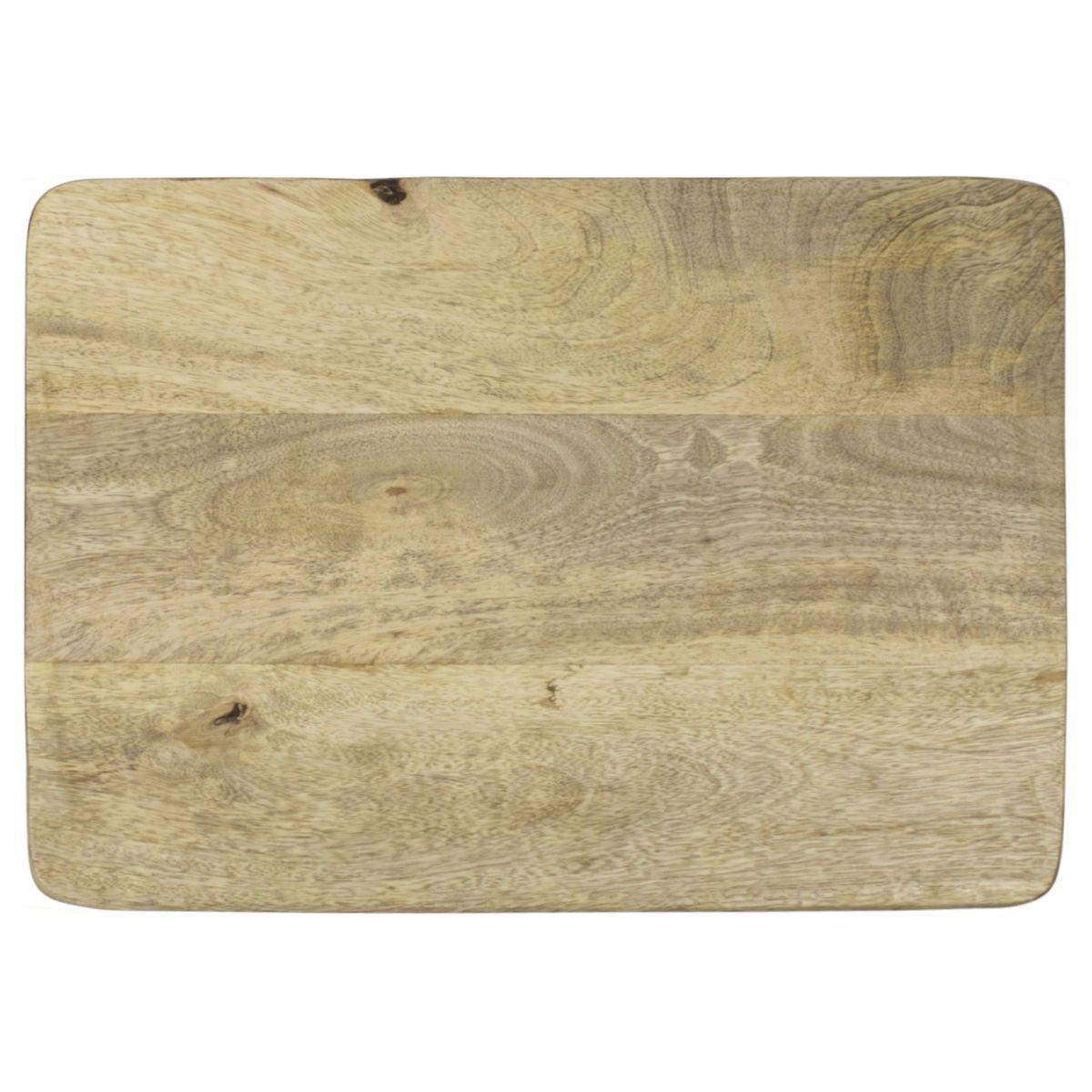 Mango ξύλινος δίσκος σερβιρίσματος 37x25x4,5 cm