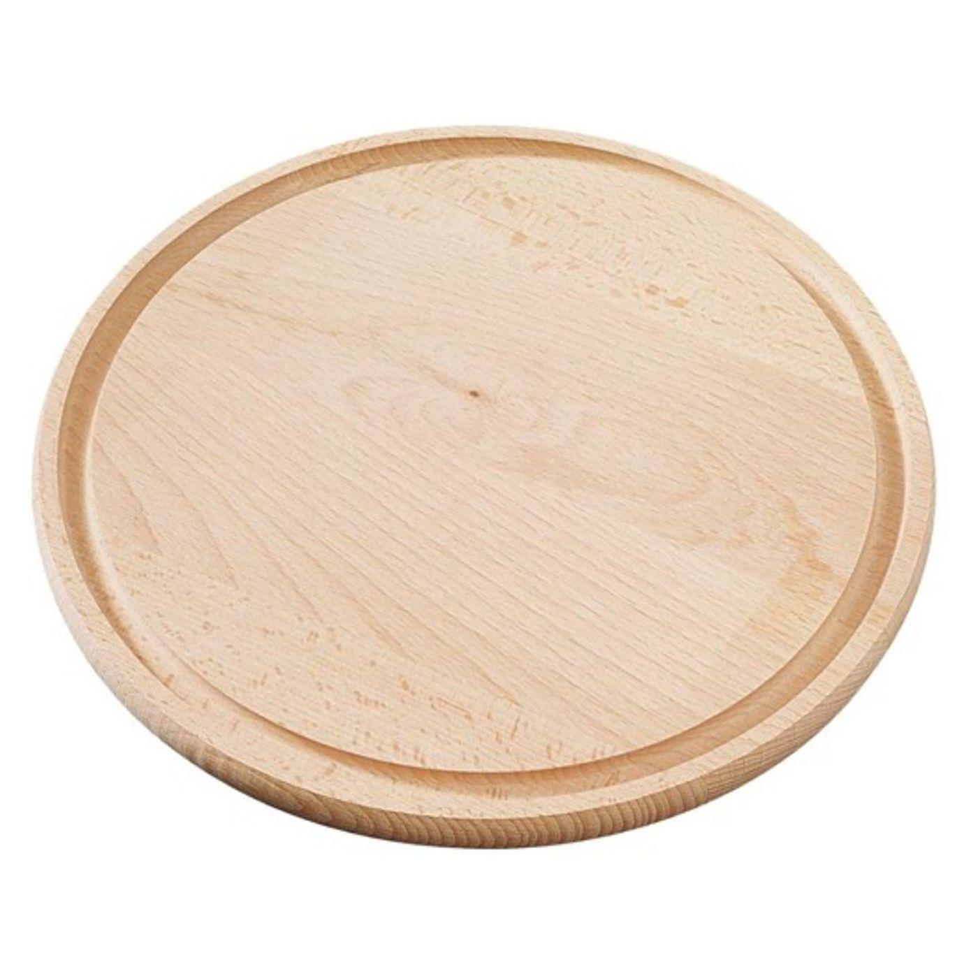 Ξύλο κοπής στρογγυλό 30cm με αυλάκωση