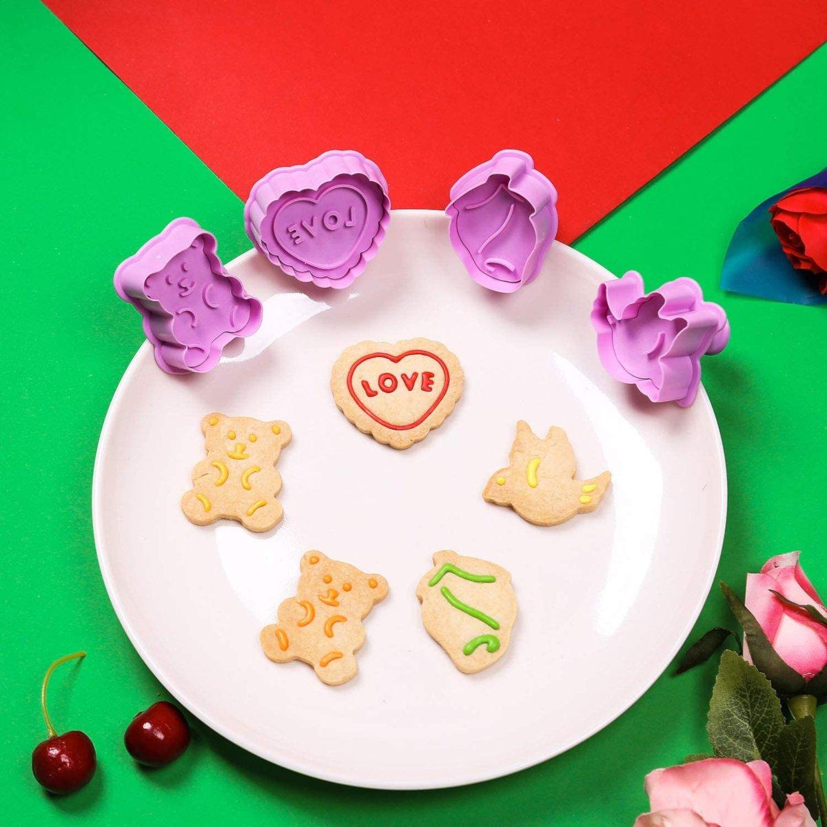 Σετ 4 κουπάτ με έμβολο Valentines Day