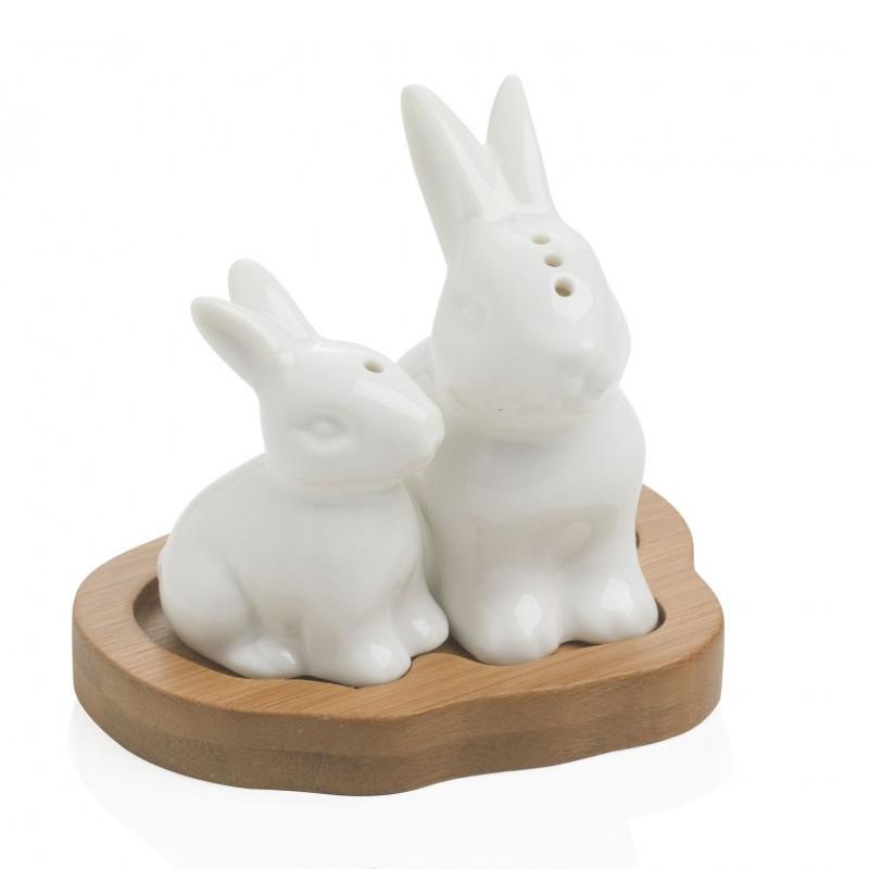 Αλατοπίπερο με βάση μπαμπού Rabbit Brandani