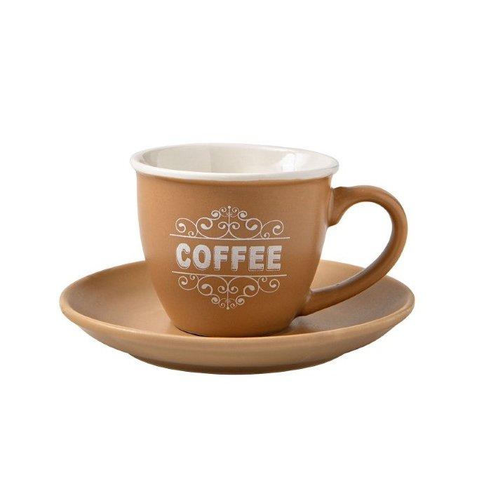 Σετ 4 φλυτζάνια espresso με πιάτο Brandani