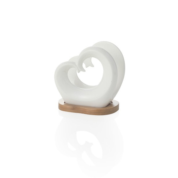 Χαρτοπετσετοθήκη πορσελάνη heart Brandani
