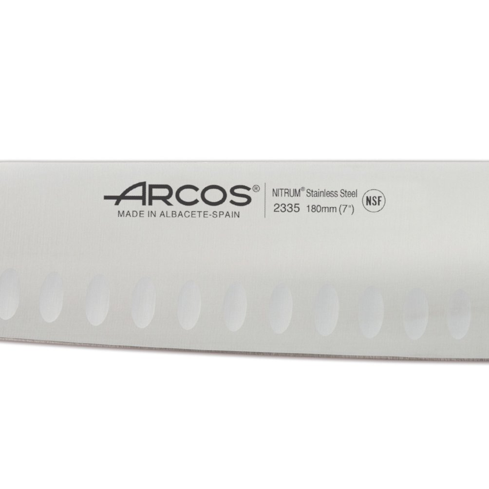 Μαχαίρι Santoku με αυλάκια riviera blanc 18cm Arcos