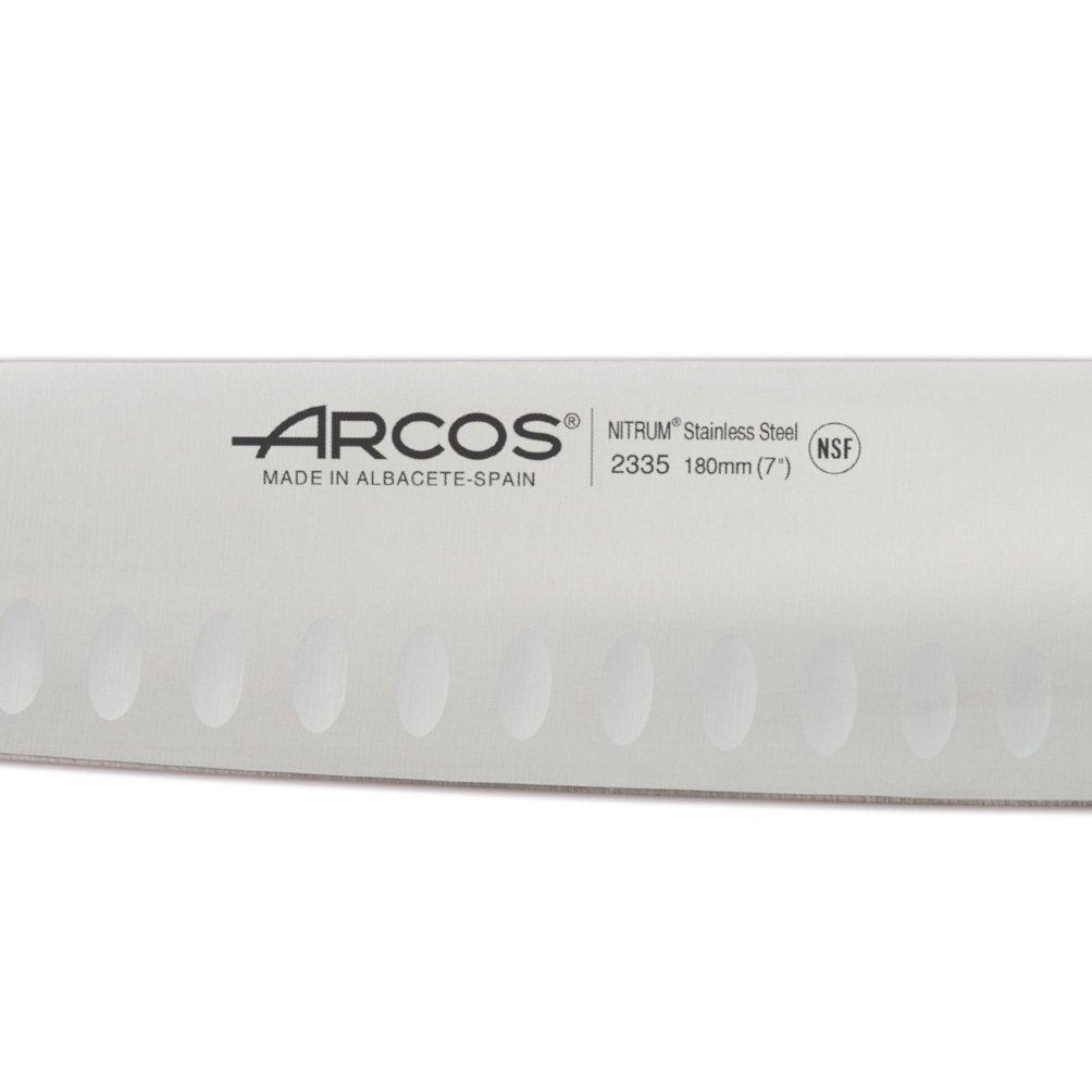 Μαχαίρι Santoku με αυλάκια riviera rose 18cm Arcos