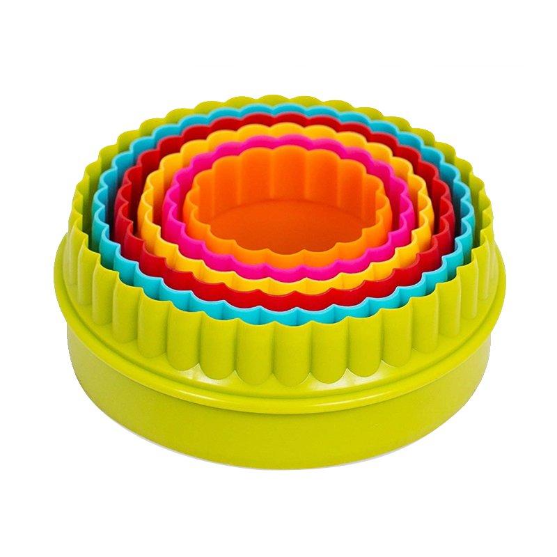 Σετ 6 πλαστικά κουπάτ διπλής όψεως στρογγυλά