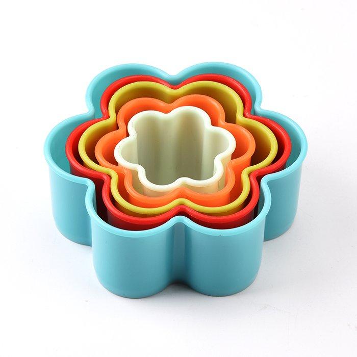 Σετ 6 πλαστικά κουπάτ λουλούδι