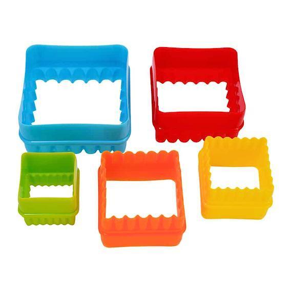 Σετ 6 πλαστικά κουπάτ διπλής όψεως τετράγωνα