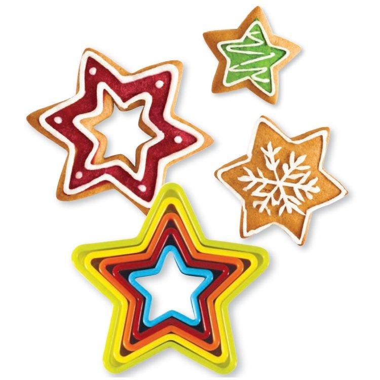 Σετ 6 πλαστικά κουπάτ αστέρι