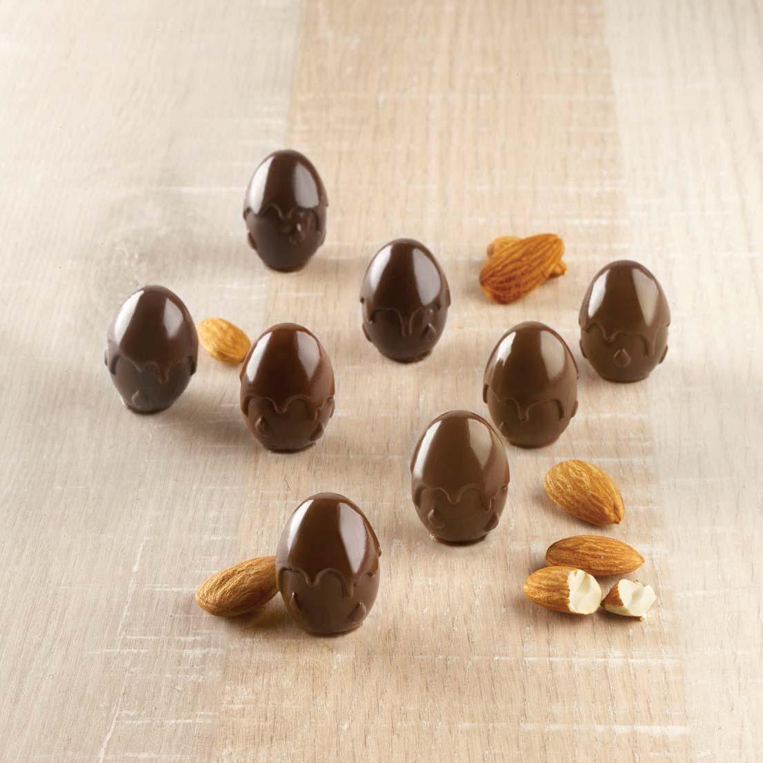 Φόρμα σιλικόνης για σοκολατένια αυγά Choco Drop 3D Design CSG53