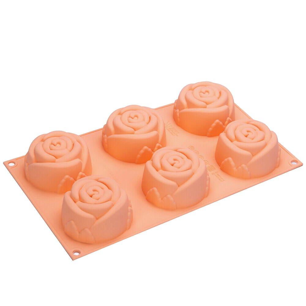Φόρμα σιλικόνης τριαντάφυλλο 6 θέσεων SF077 Rose