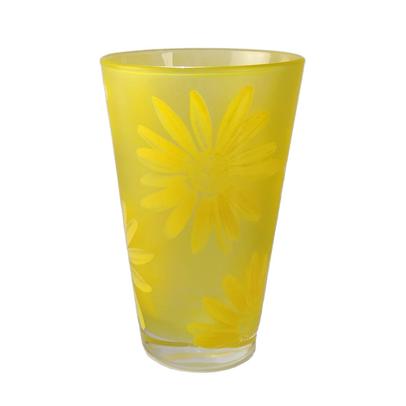 Σετ 6 ποτήρια κίτρινα σχέδιο μαργαρίτα Cerve