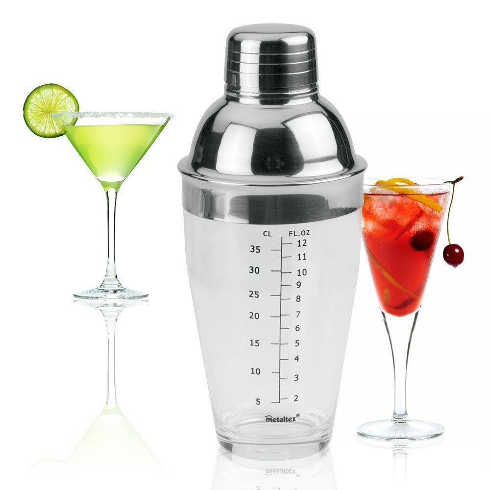 Shaker ακρυλικό με ανοξείδωτο καπάκι 500 ml