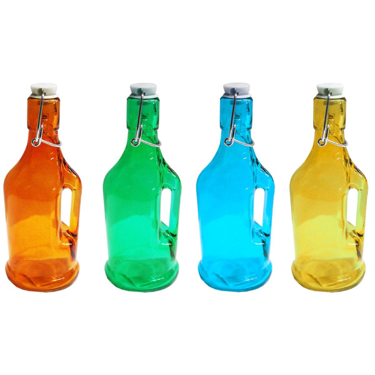 Μπουκάλι γυάλινο χρωματιστό 200 ml Νο 2021