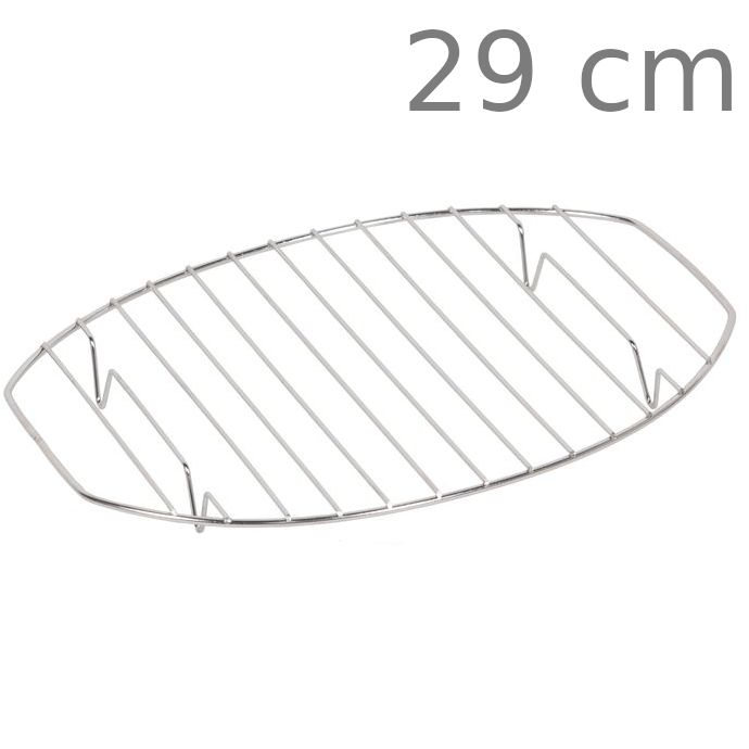 Σχάρα οβάλ ανοξείδωτη με πόδι 29 cm