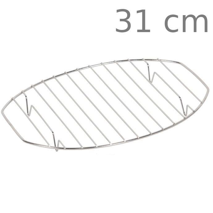 Σχάρα οβάλ ανοξείδωτη με πόδι 31 cm