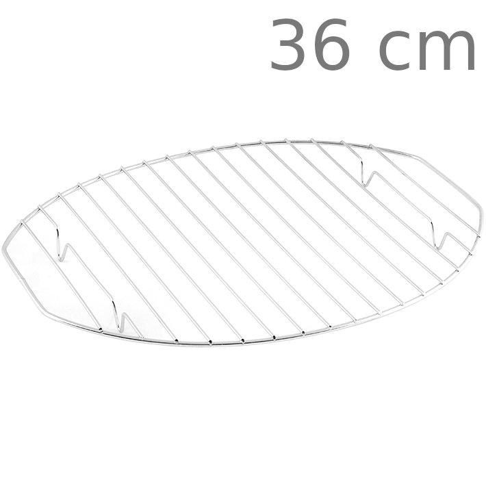 Σχάρα οβάλ ανοξείδωτη με πόδι 36 cm