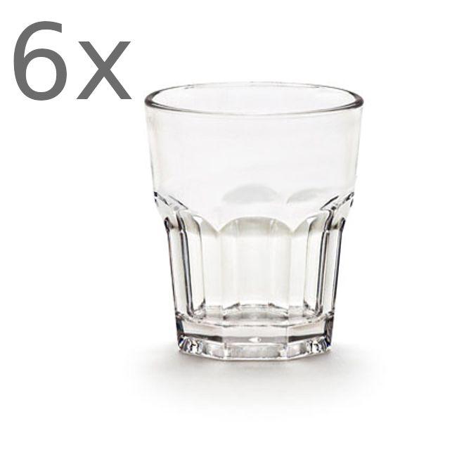 Σετ 6 ποτήρια σφηνάκι King Glass Casablanca 37cc
