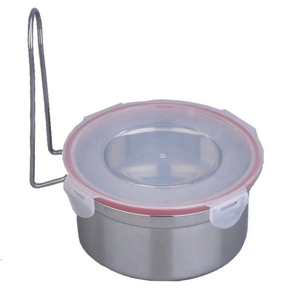 Φαγητοδοχείο Inox με πλαστικό καπάκι Νο 12
