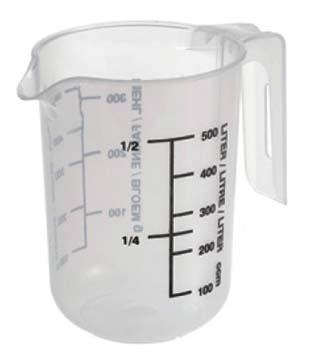 Μεζούρα πλαστική άθραυστη 0,5L