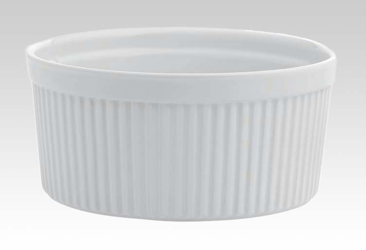 Φόρμα σουφλέ 20 εκ. stoneware λευκή