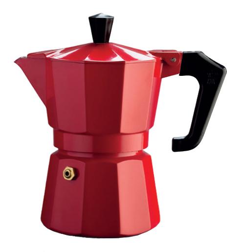 Καφετιέρα espresso 1 φλ. Italexpress κόκκινη