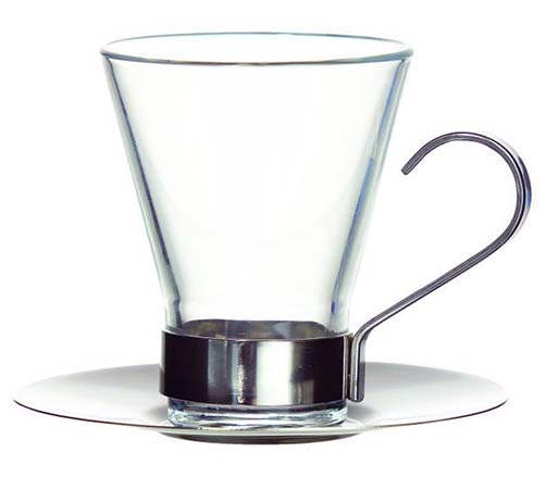 Σετ 2 φλιτζάνια espresso με inox λαβή Ypsilon