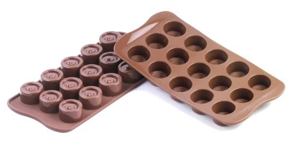 Φόρμα σιλικόνης 15 θέσεων για σοκολατάκια Vertigo