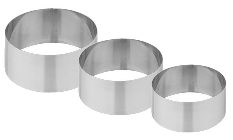 Σετ 3 ανοξείδωτα στεφάνια Φ 6-8-10 cm Fest ergoline