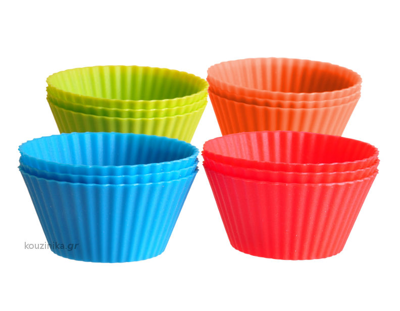Σετ 12 φορμάκια σιλικόνης για muffin