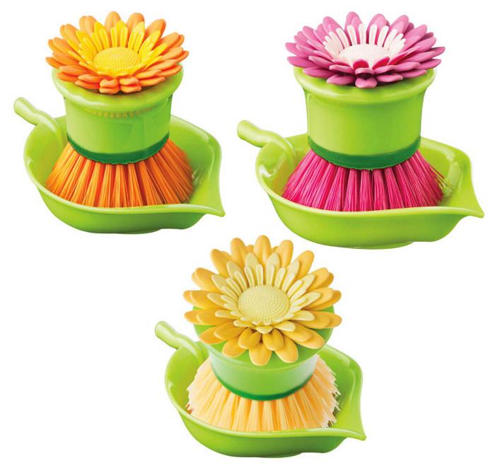 Flower power βουρτσάκι πιάτων