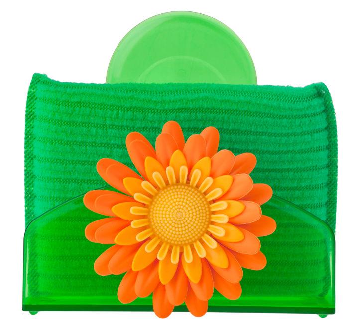 Flower power θήκη σφουγγαριού