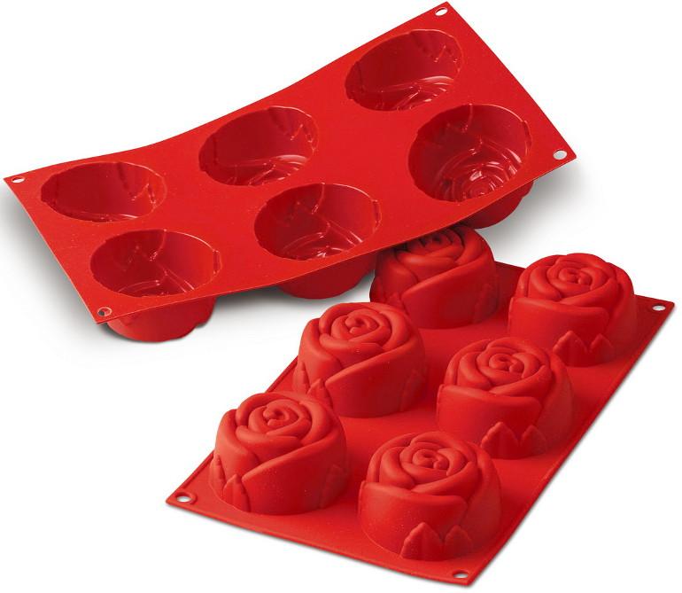 Φόρμα σιλικόνης 6 θέσεων Big Roses