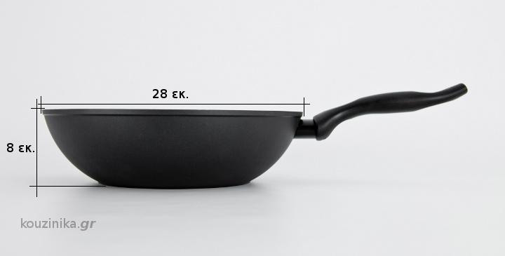 Wok Palladium Ecolux με κεραμική επίστρωση Ø28εκ.