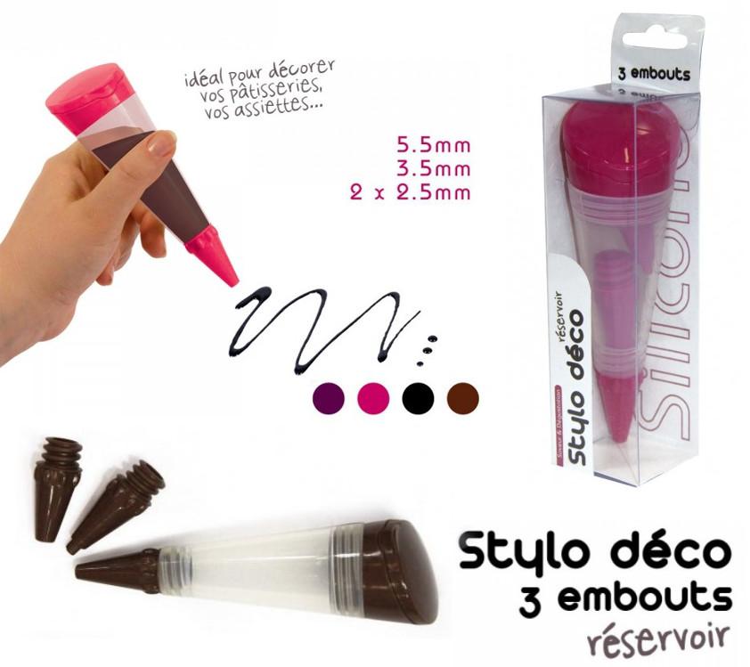 Στυλό διακόσμησης γλυκών με 3 μύτες