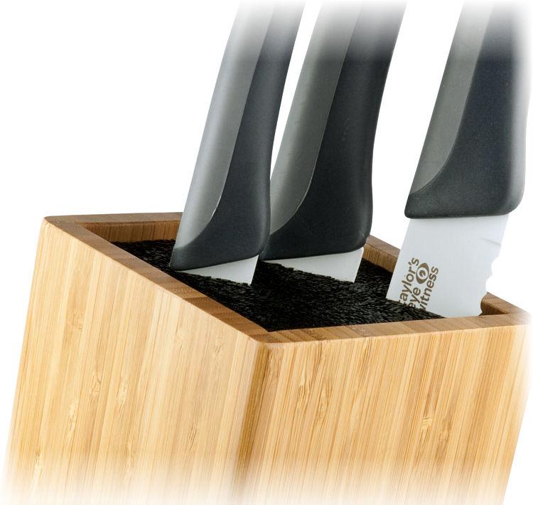 Βάση για μαχαίρια μαύρη