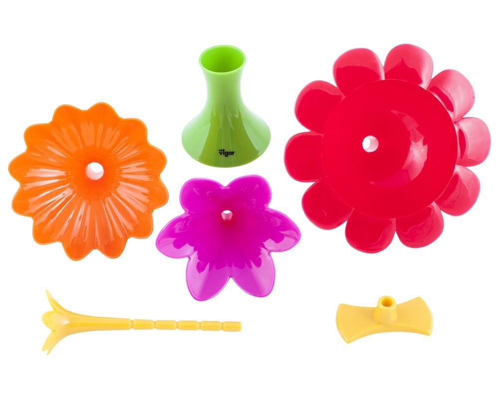 Flower power σετ 3 χωνιά με βάση