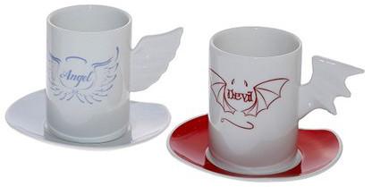 φλυτζάνια espresso Angel-Devil