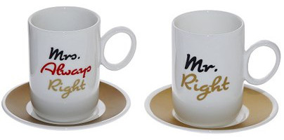 φλυτζάνια espresso Mr Right-Mrs Always Right