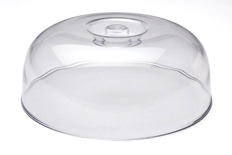 Καπάκι τουρτιέρας πλαστικό διάφανο Ø 28εκ.