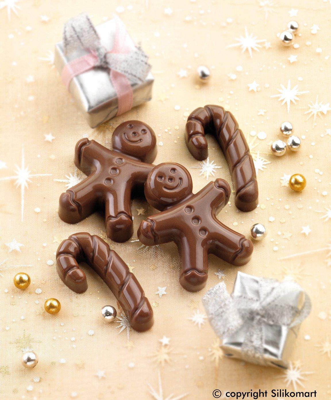 Φόρμα σιλικόνης για σοκολατάκια Mr Ginger
