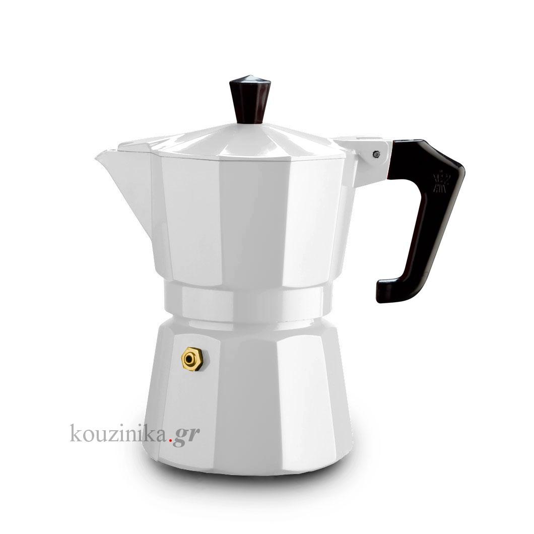 Καφετιέρα espresso 3 φλ. ItalExpress λευκή
