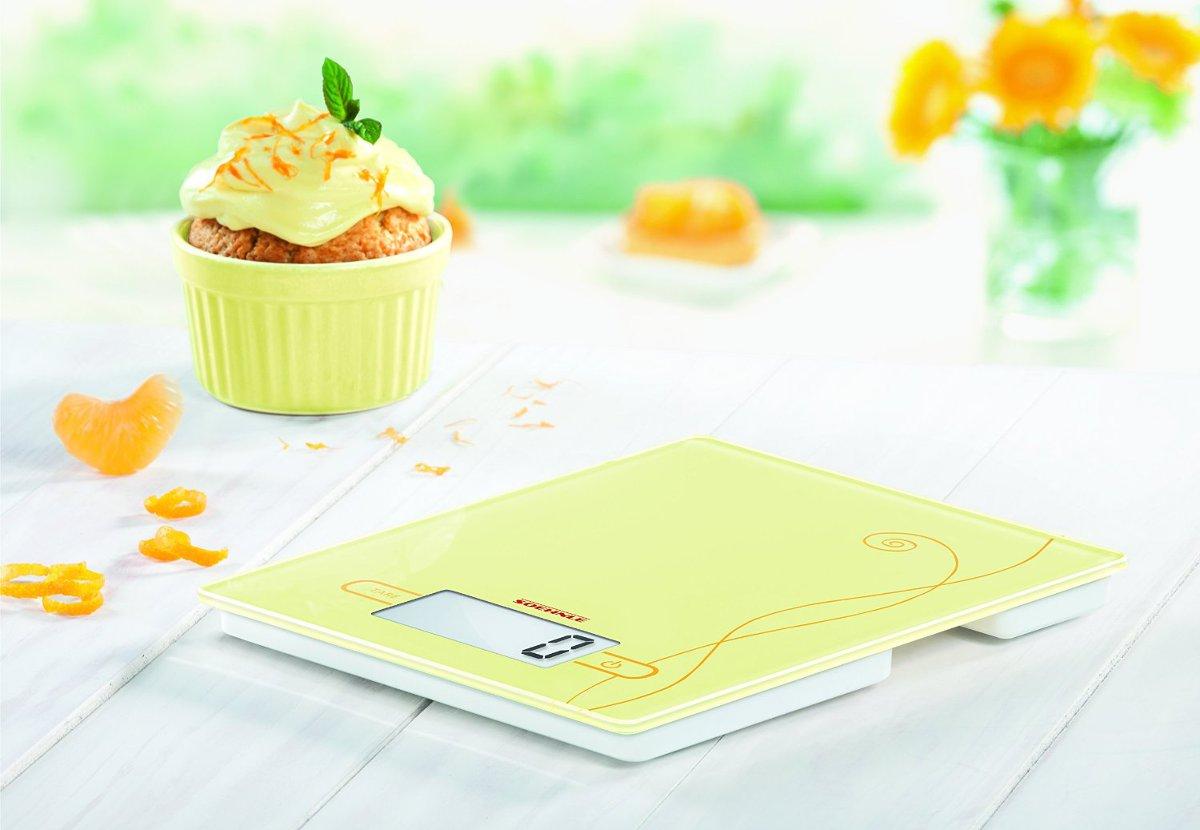 Ψηφιακή ζυγαριά κουζίνας αφής Soehnle Colour Edition κίτρινη