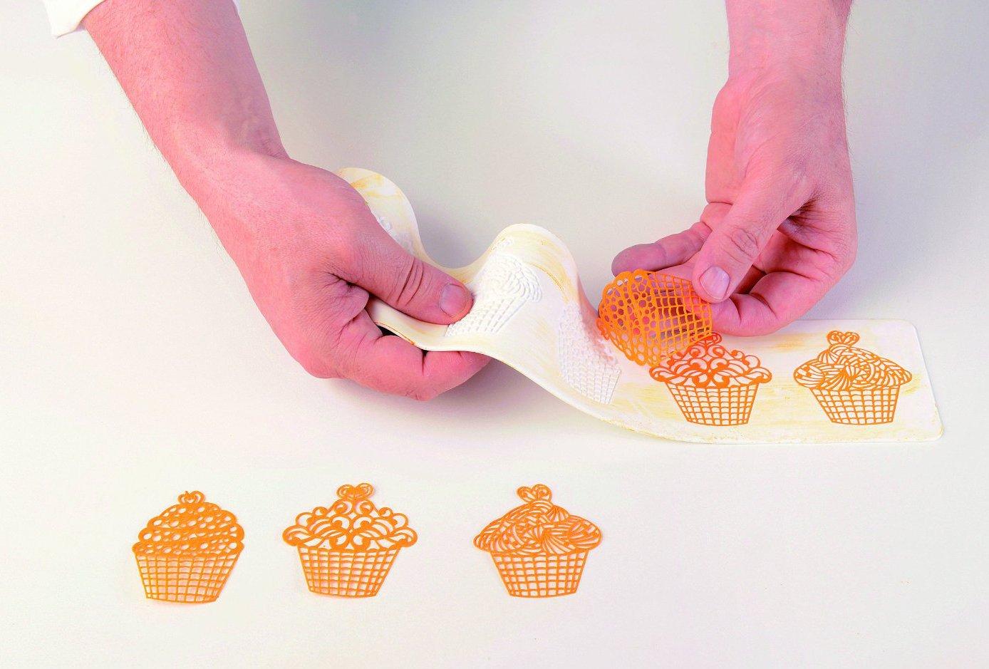 Επιφάνεια σιλικόνης για διακοσμητική δαντέλα Cupcakes TRD12