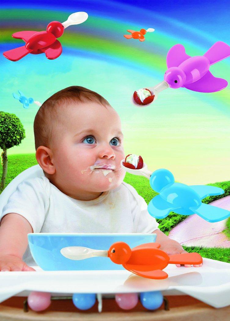 Birdy κουταλάκι σιλικόνης για μωρό