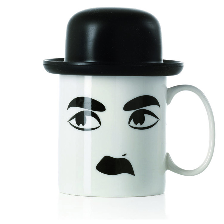 Charlie κούπα πορσελάνη μαύρο καπέλο 400 cc